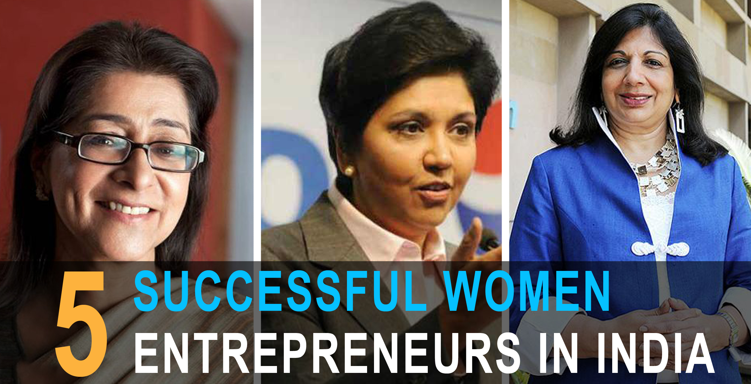 5 Successful Women Entrepreneurs in India