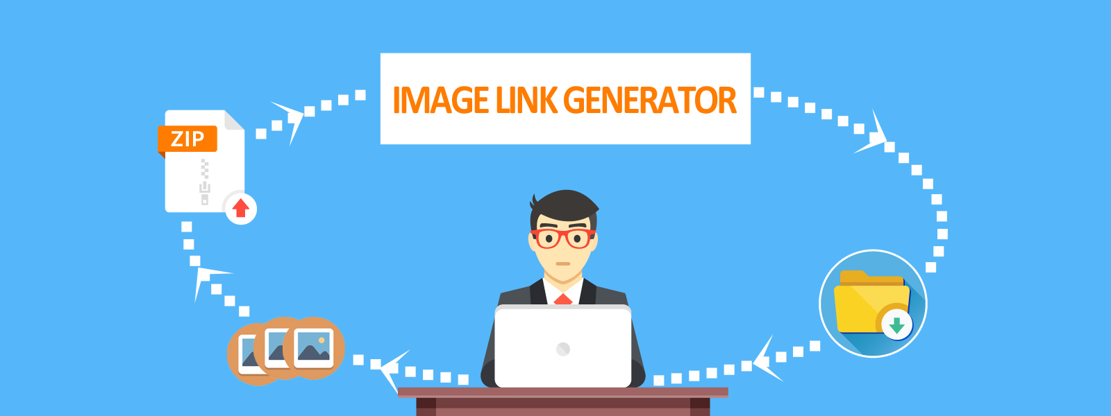 How to generator public image links in bulk ?